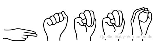 Hanno in Fingersprache für Gehörlose