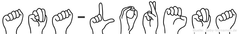 Ana-Lorena im Fingeralphabet der Deutschen Gebärdensprache