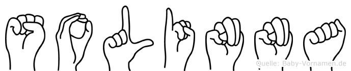 Solinna im Fingeralphabet der Deutschen Gebärdensprache