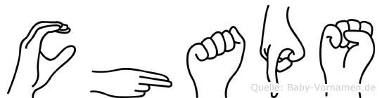 Chaps im Fingeralphabet der Deutschen Gebärdensprache