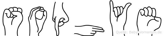 Sophye in Fingersprache für Gehörlose