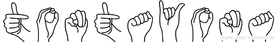Tontayona im Fingeralphabet der Deutschen Gebärdensprache