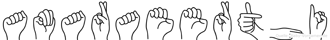 Amaraeerthi in Fingersprache für Gehörlose