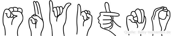 Suyitno in Fingersprache für Gehörlose
