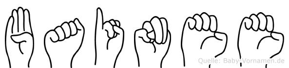 Bainee in Fingersprache für Gehörlose