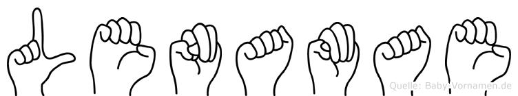 Lenamae in Fingersprache für Gehörlose