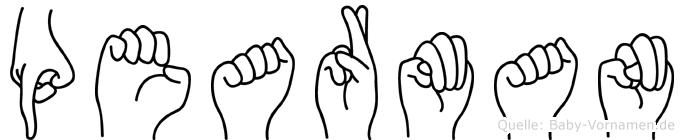 Pearman in Fingersprache für Gehörlose