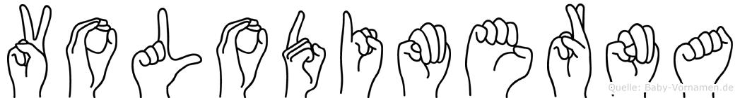 Volodimerna im Fingeralphabet der Deutschen Gebärdensprache