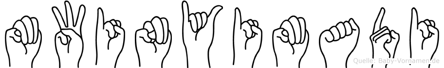 Mwinyimadi in Fingersprache für Gehörlose