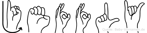 Jeffly in Fingersprache für Gehörlose