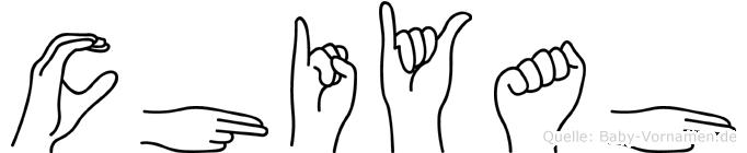 Chiyah in Fingersprache für Gehörlose