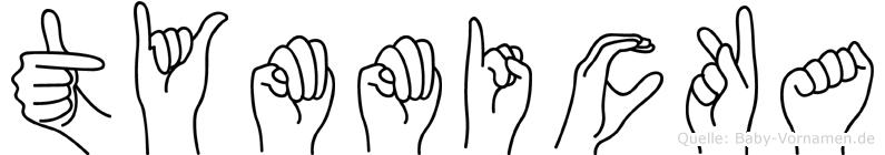 Tymmicka im Fingeralphabet der Deutschen Gebärdensprache