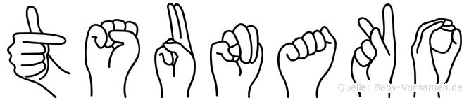 Tsunako in Fingersprache für Gehörlose