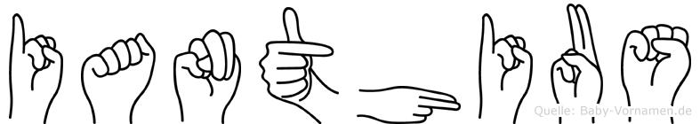 Ianthius im Fingeralphabet der Deutschen Gebärdensprache