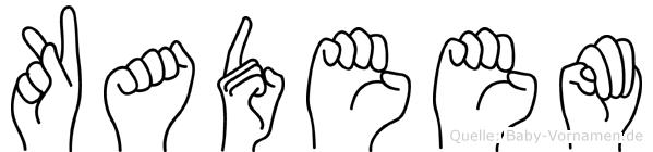 Kadeem in Fingersprache für Gehörlose