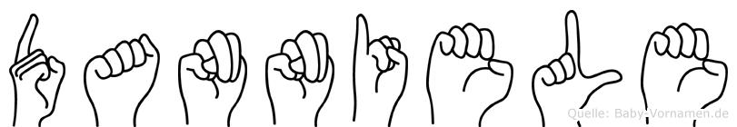 Danniele im Fingeralphabet der Deutschen Gebärdensprache