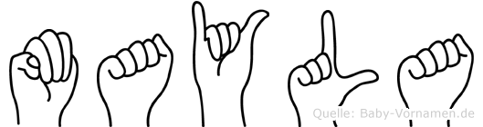 Mayla im Fingeralphabet der Deutschen Gebärdensprache