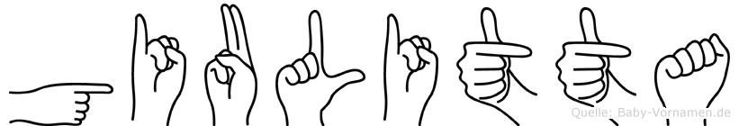 Giulitta im Fingeralphabet der Deutschen Gebärdensprache