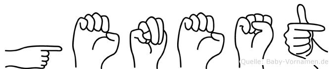 Genest im Fingeralphabet der Deutschen Gebärdensprache