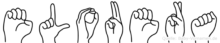 Elouera im Fingeralphabet der Deutschen Gebärdensprache