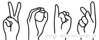 Voik in Fingersprache für Gehörlose