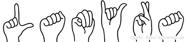 Lamyra in Fingersprache für Gehörlose