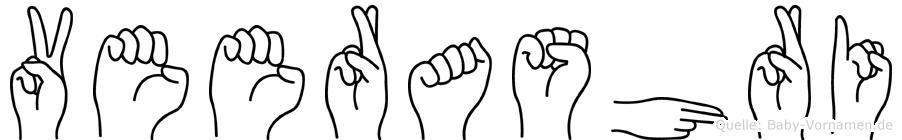 Veerashri in Fingersprache für Gehörlose