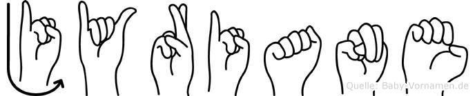Jyriane im Fingeralphabet der Deutschen Gebärdensprache