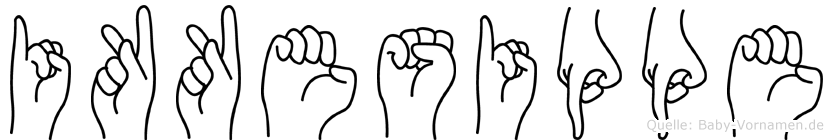 Ikkesippe im Fingeralphabet der Deutschen Gebärdensprache