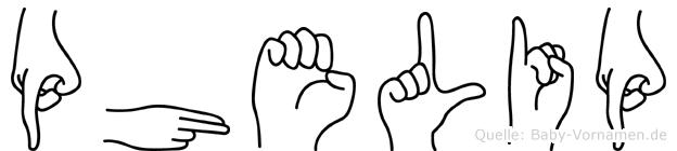 Phelip in Fingersprache für Gehörlose