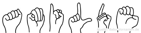 Amilde in Fingersprache für Gehörlose