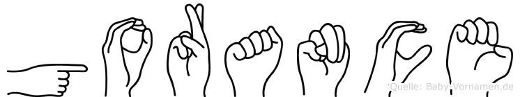 Gorance in Fingersprache für Gehörlose