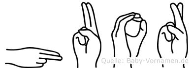 Huor in Fingersprache für Gehörlose
