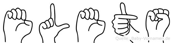 Elets in Fingersprache für Gehörlose