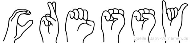 Cressy in Fingersprache für Gehörlose