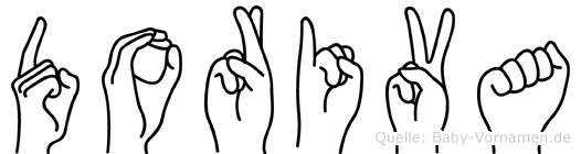 Doriva im Fingeralphabet der Deutschen Gebärdensprache