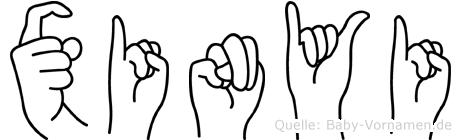 Xinyi in Fingersprache für Gehörlose