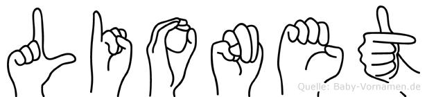 Lionet im Fingeralphabet der Deutschen Gebärdensprache