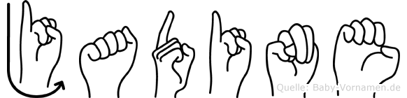Jadine im Fingeralphabet der Deutschen Gebärdensprache