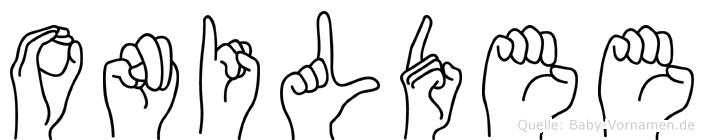 Onildee in Fingersprache für Gehörlose