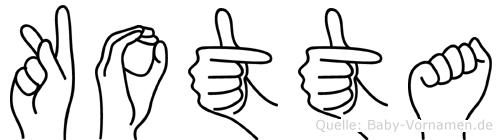 Kotta in Fingersprache für Gehörlose