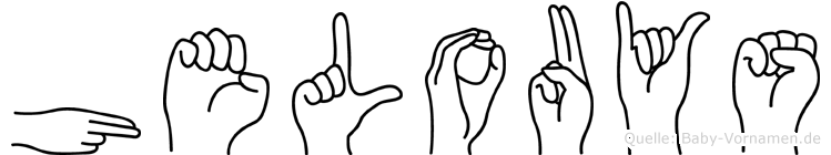 Helouys in Fingersprache für Gehörlose