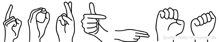 Dorthea in Fingersprache für Gehörlose