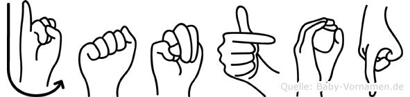 Jantop im Fingeralphabet der Deutschen Gebärdensprache