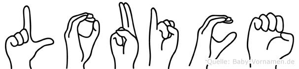Louice in Fingersprache für Gehörlose