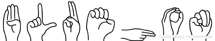 Bluehon in Fingersprache für Gehörlose