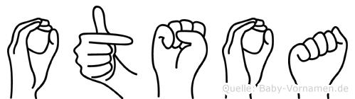Otsoa in Fingersprache für Gehörlose