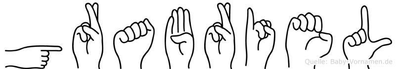 Grabriel in Fingersprache für Gehörlose