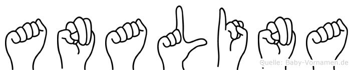 Analina im Fingeralphabet der Deutschen Gebärdensprache