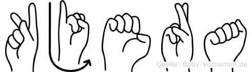 Kjera im Fingeralphabet der Deutschen Gebärdensprache